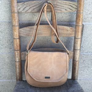 Roxy Tan Crossbody Messenger Bag Purse Soft